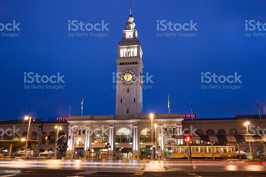Ferry Building in San Francisco, California stock photo
