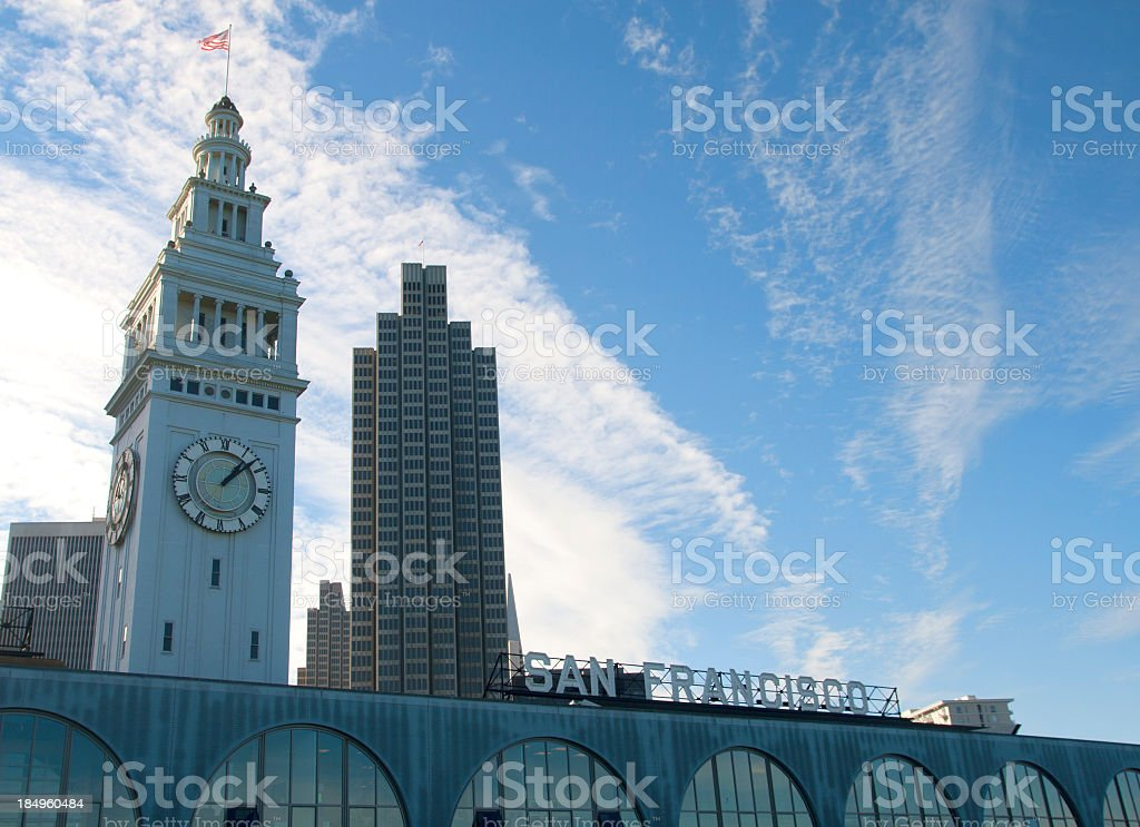Ferry Building- San Francisco stock photo