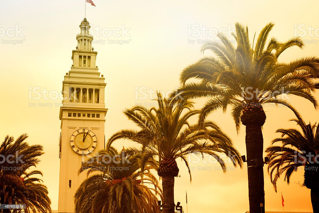 Ferry Building, San Francisco stock photo