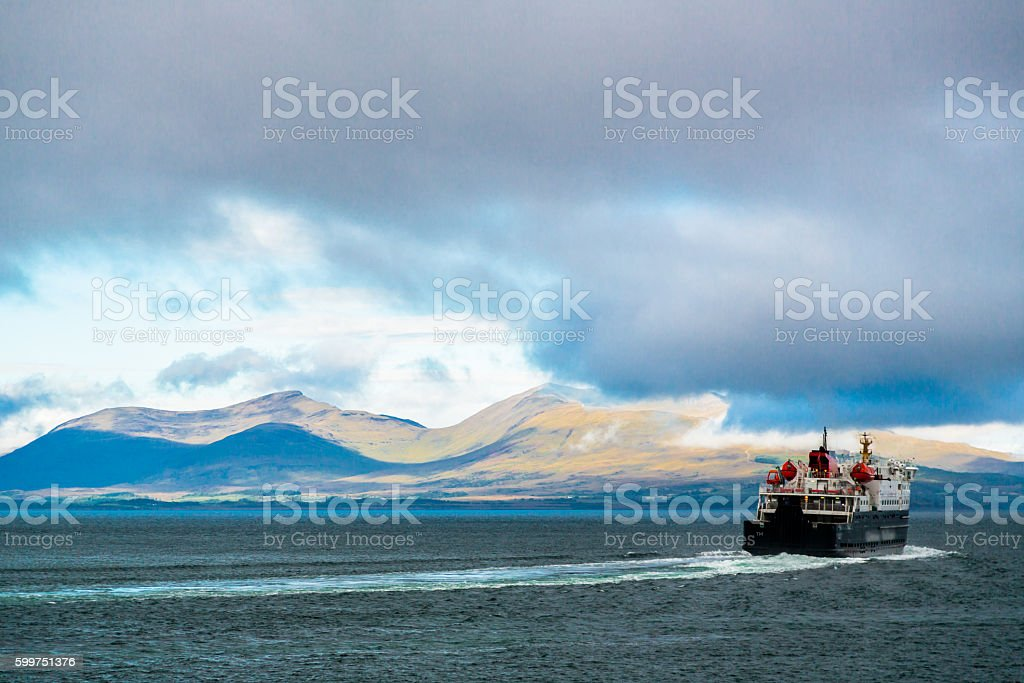Ferry Connecting Scottish Islands stock photo
