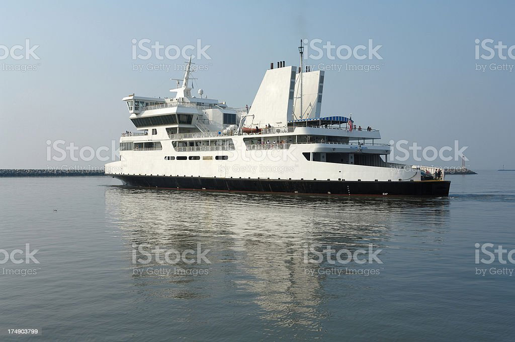 Ferry crossing royalty-free stock photo