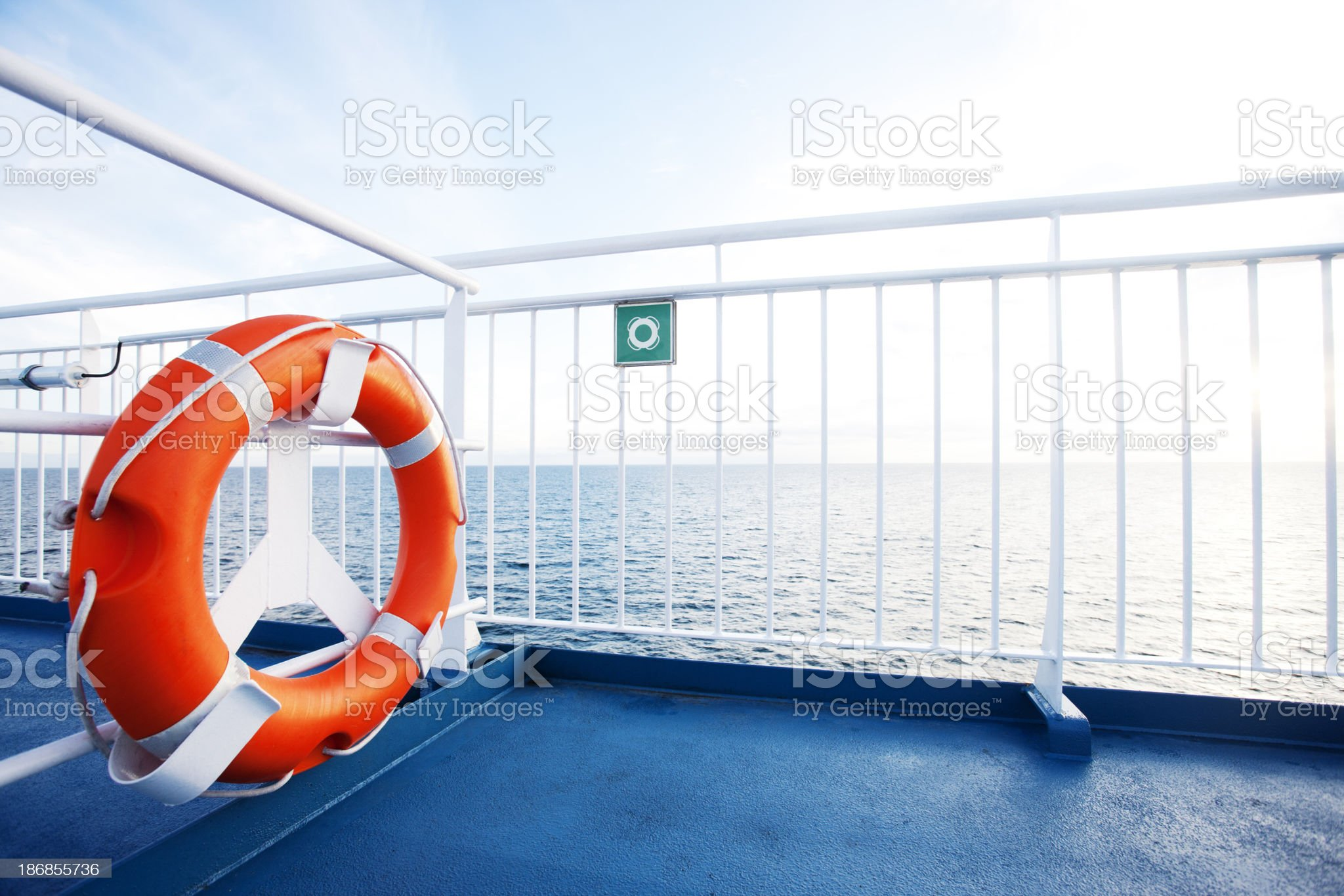 Ferry deck royalty-free stock photo