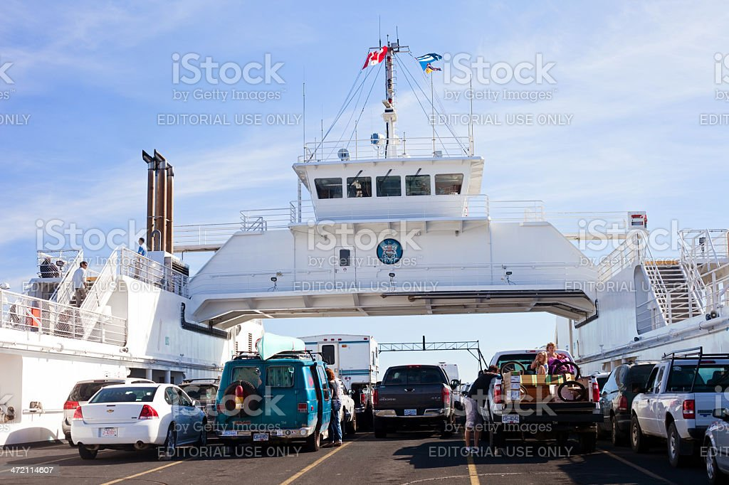 Ferry Deck stock photo