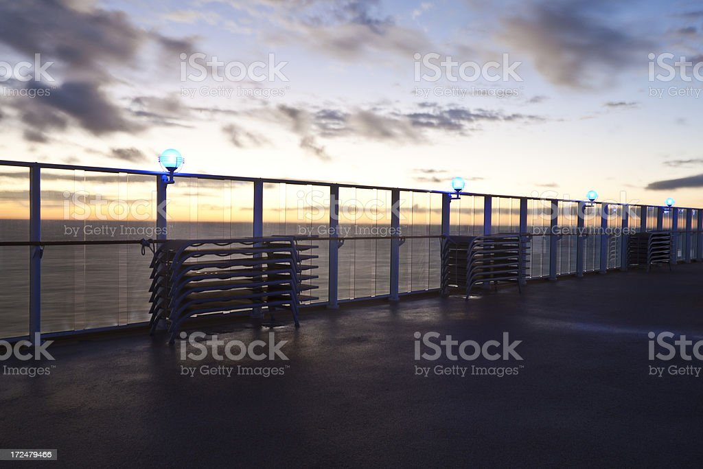 Ferry Deck Sunset royalty-free stock photo