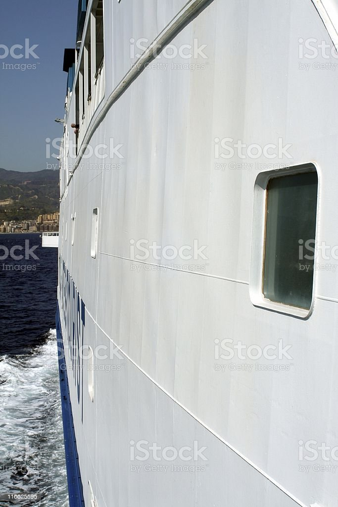 Ferry detail royalty-free stock photo