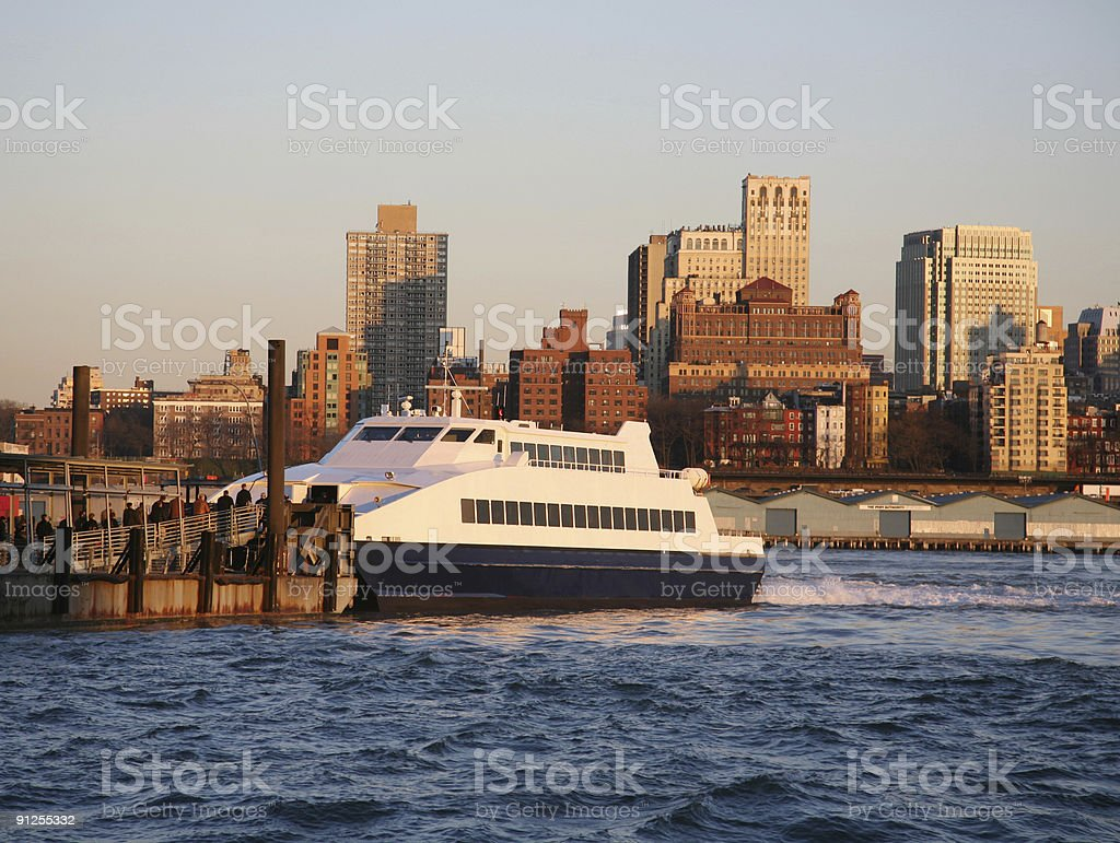 Ferry Dock On The Waterfront stock photo