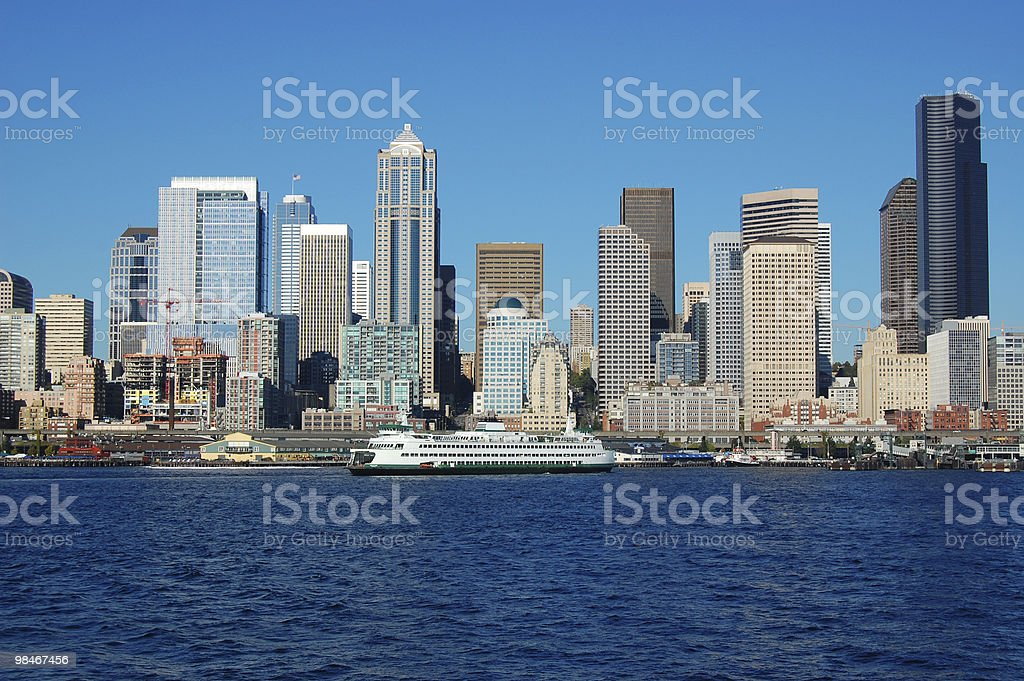 Ferry in Seattle stock photo