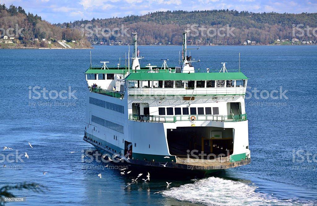 Ferry in Tacoma, WA stock photo