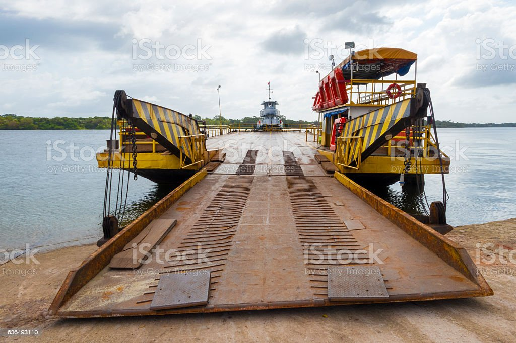 Ferry in the Amazon - Brazil stock photo
