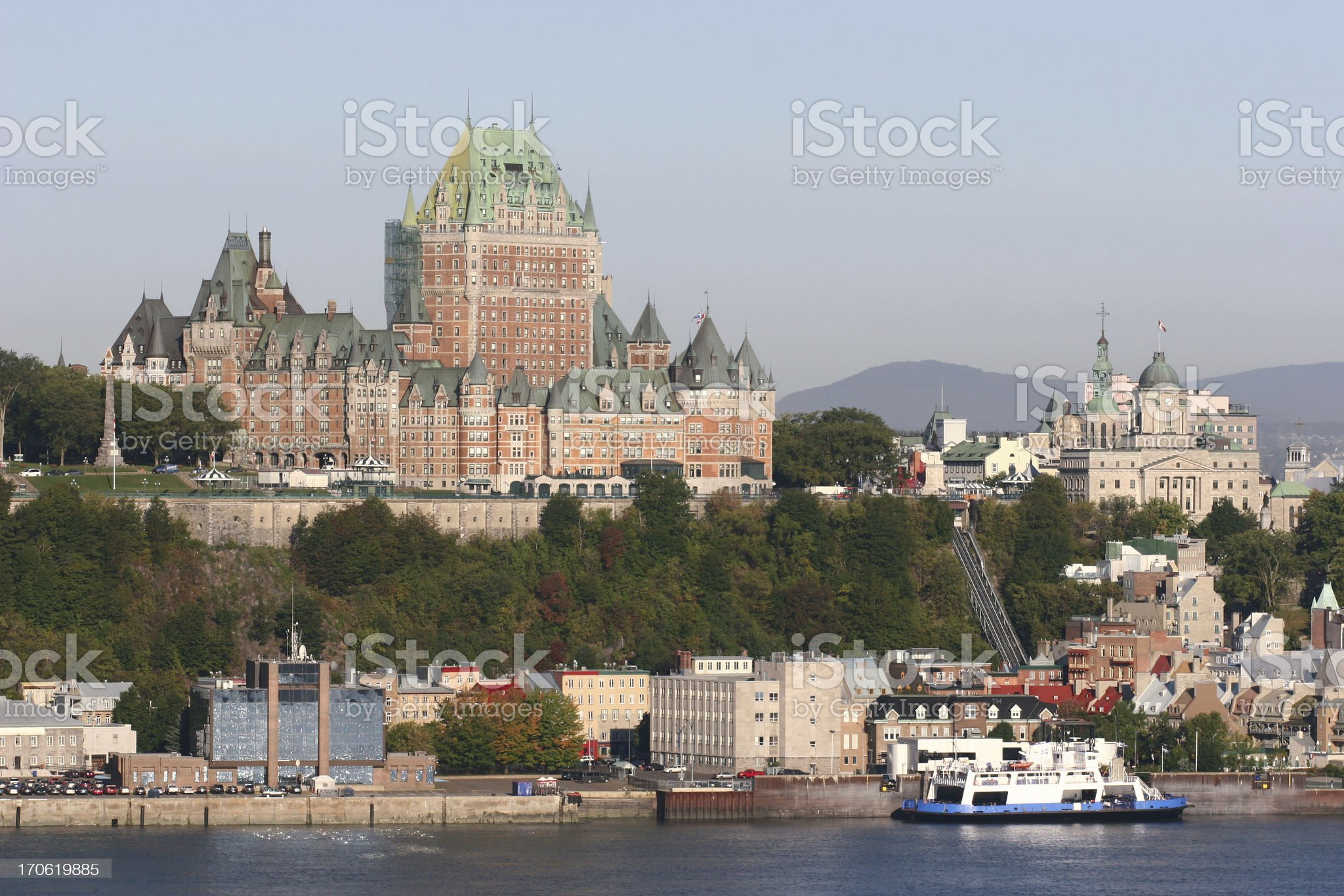 Ferry in the old Quebec City royalty-free stock photo