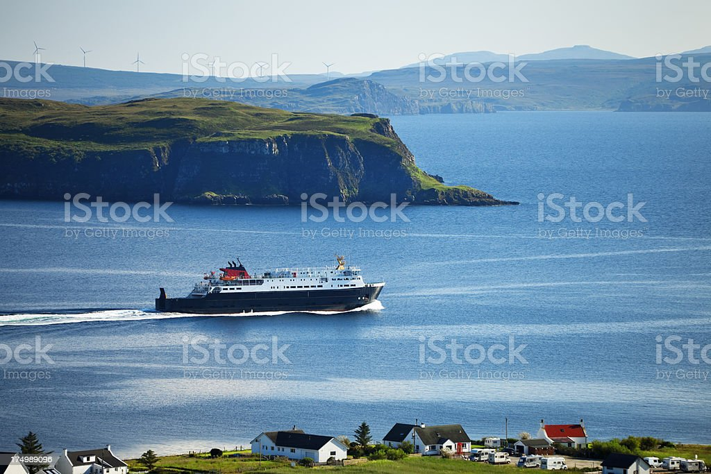 Ferry  Leaving Uig on Isle of Skye , Inner Hebrides, Scotland stock photo