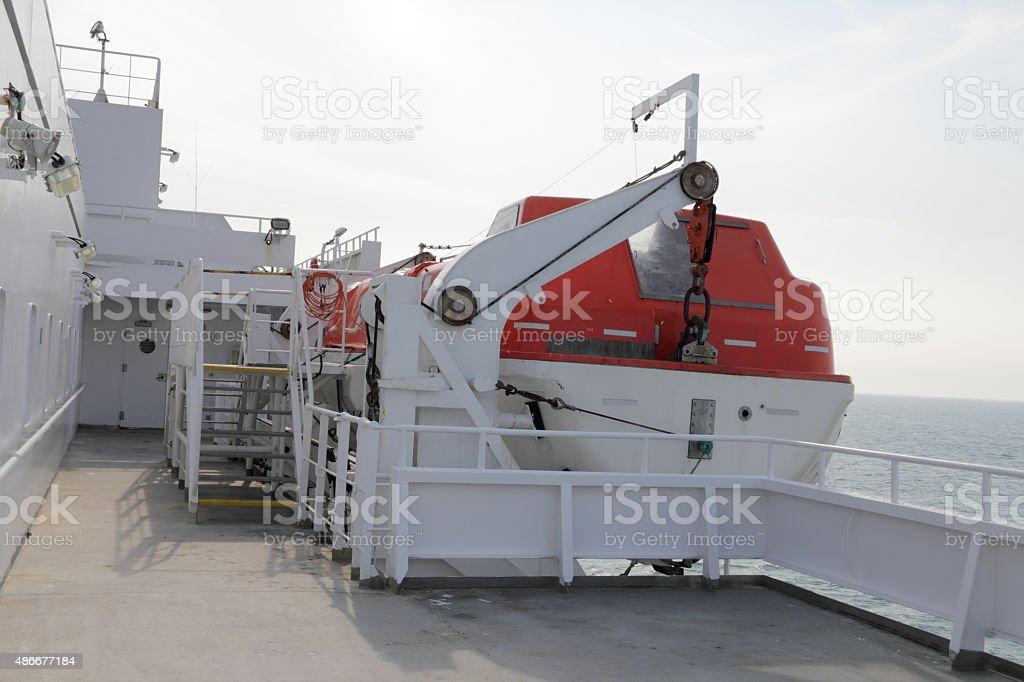 ferry life boat stock photo
