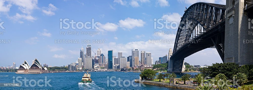 Ferry on Sydney Harbour royalty-free stock photo