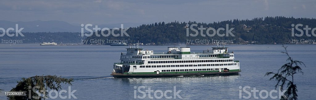 Ferry on the Puget Sound royalty-free stock photo