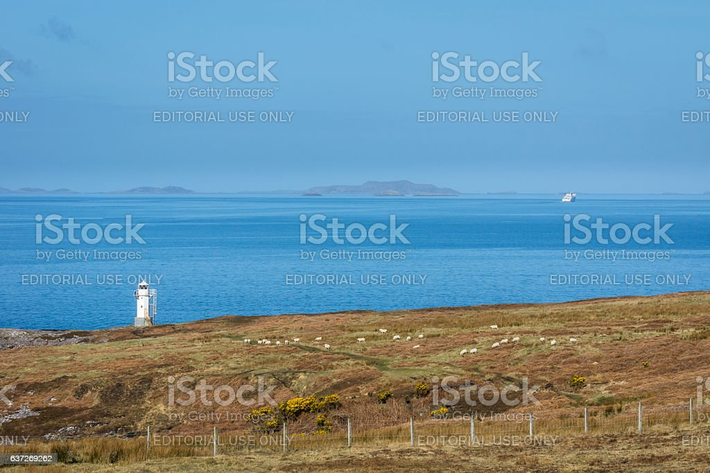 Ferry Passes Summer Isles stock photo