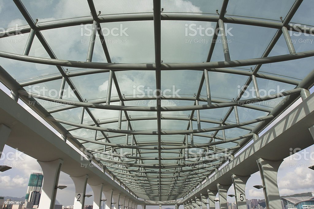 Ferry Pier Ceiling royalty-free stock photo