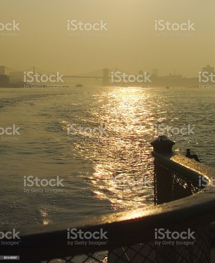 Ferry ride at sun rise royalty-free stock photo