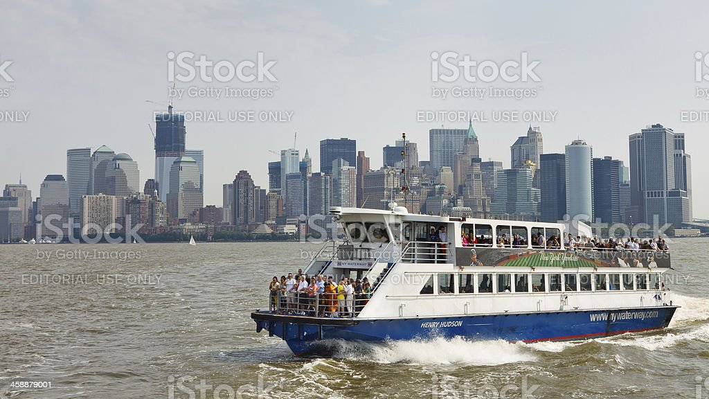Ferry Ride from Manhattan to New Jersey royalty-free stock photo