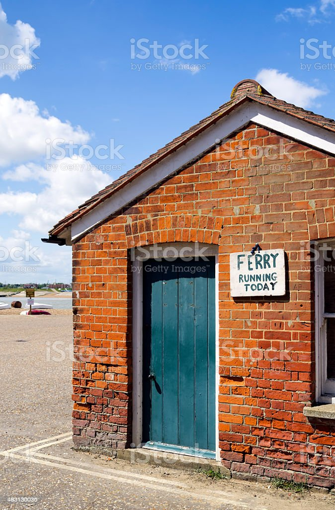 Ferry running today - sign stock photo