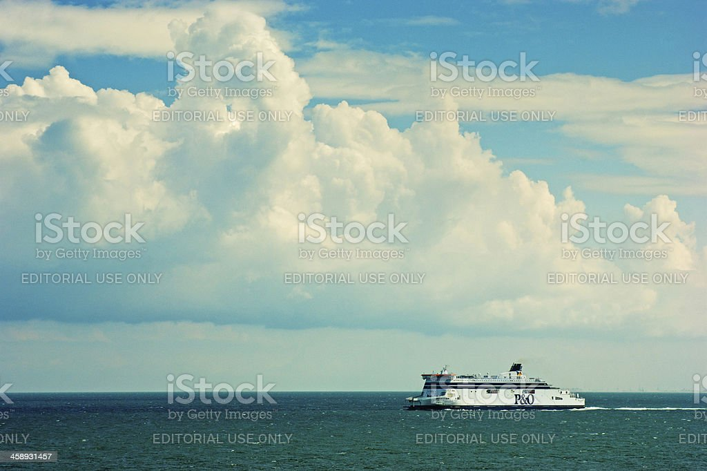 Ferry sailing from Calais stock photo