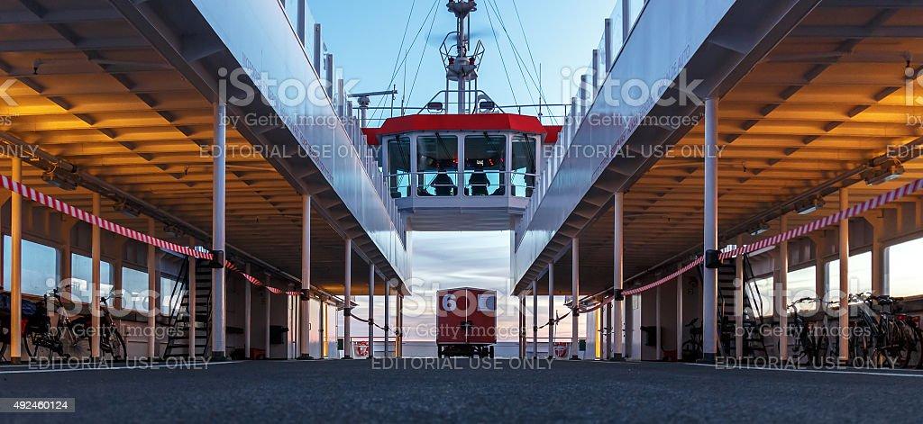 Ferry Schiermoonikoog Lauwersoog stock photo