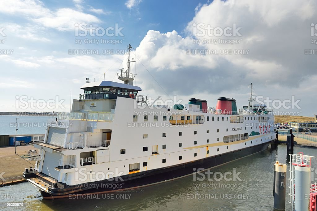 TESO Ferry Schulpengat in the ferry port of Texel Island royalty-free stock photo