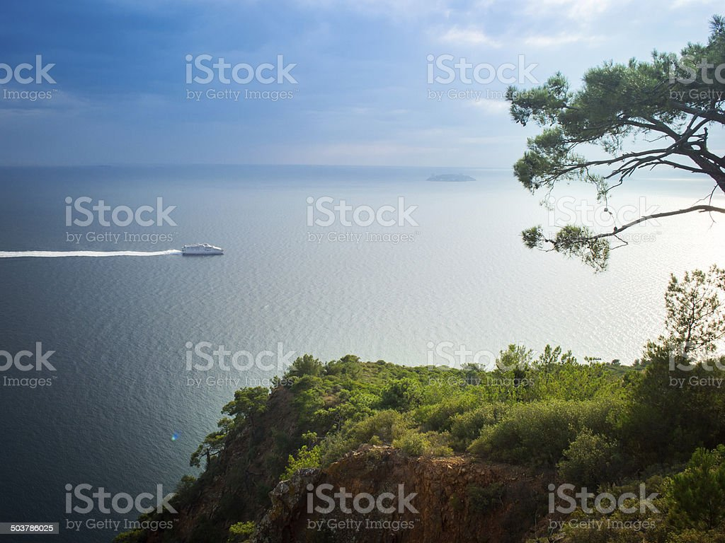 Ferry, Sea, Travel stock photo