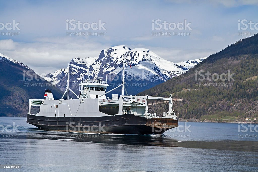 ferry service Sognefjord stock photo