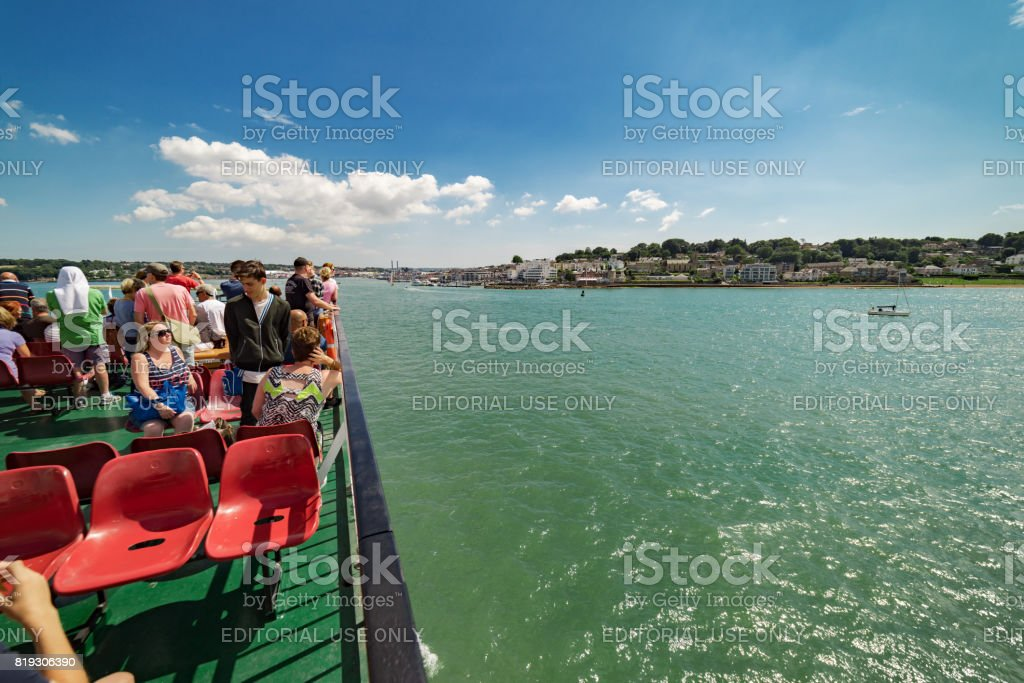Ferry service to Cowes on the Isle of Wight stock photo