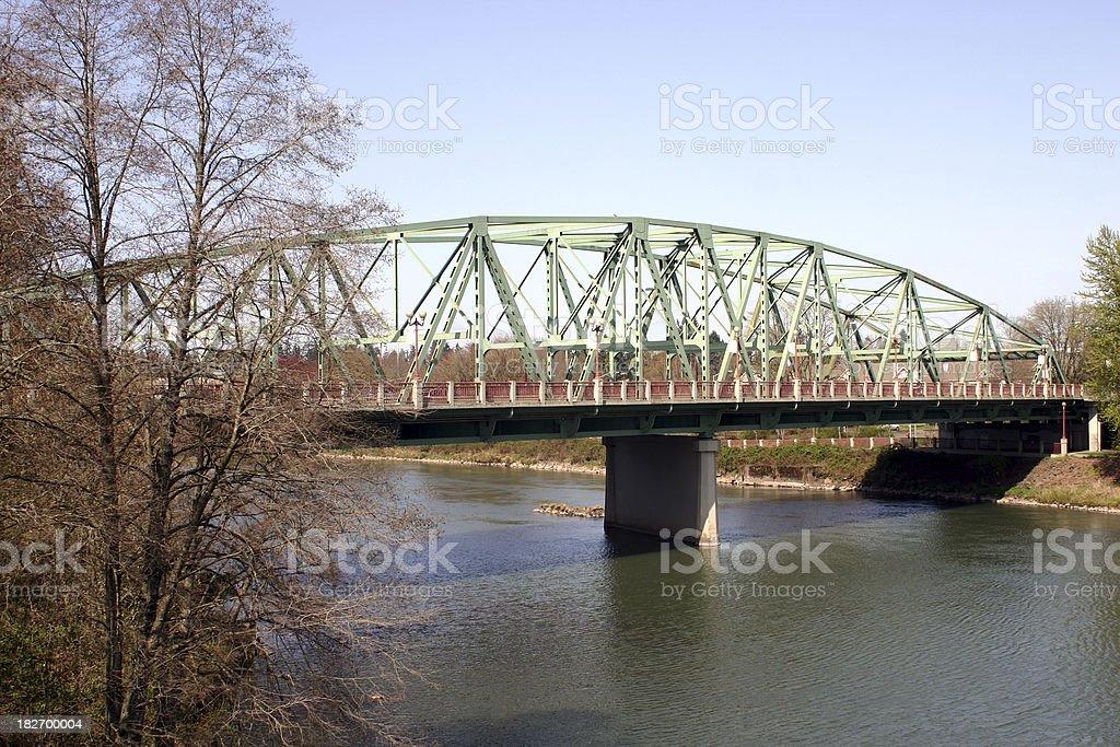 Ferry Street Bridge in Eugene Oregon stock photo