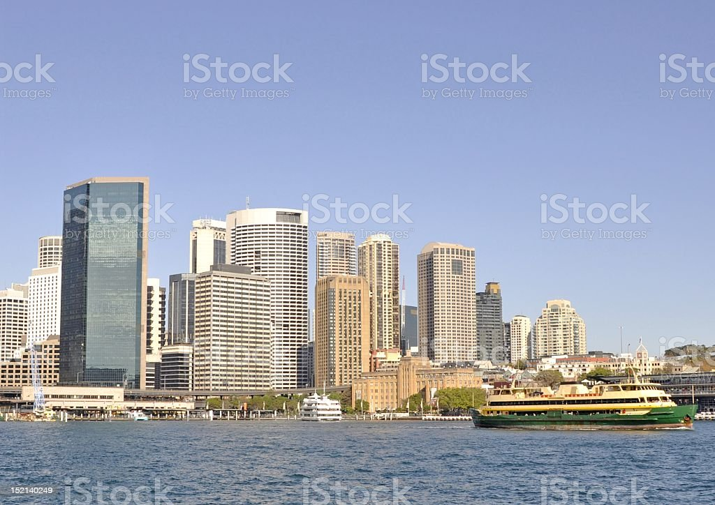 Ferry Sydney Harbour royalty-free stock photo