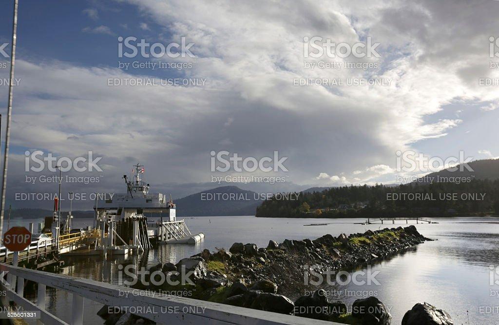 Ferry Terminal at Crofton, Vancouver Island, British Columbia, Canada stock photo