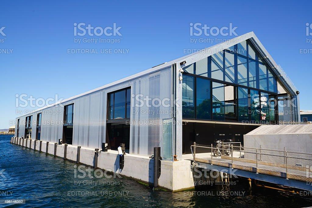 MONA ROMA Ferry Terminal Brooke Street Pier Hobart Tasmania stock photo