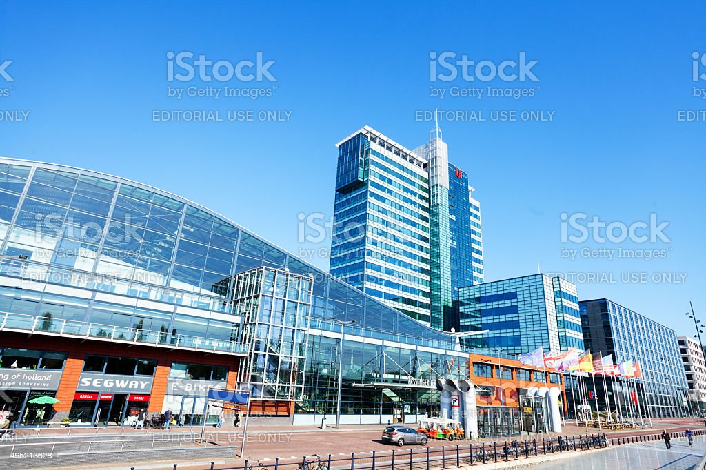Ferry terminal in Amsterdam stock photo