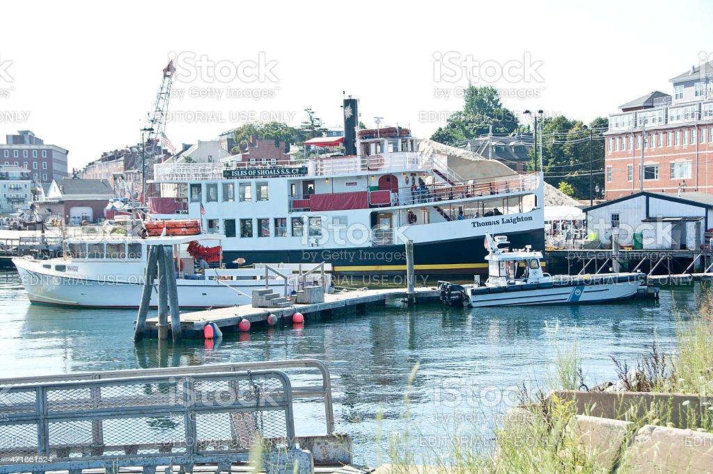 Ferry Thomas Laighton in Portsmouth, New Hampshire stock photo