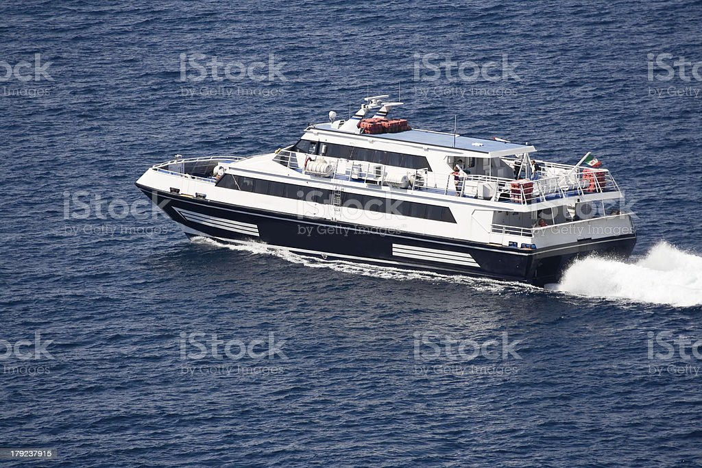 Ferry to Capri royalty-free stock photo