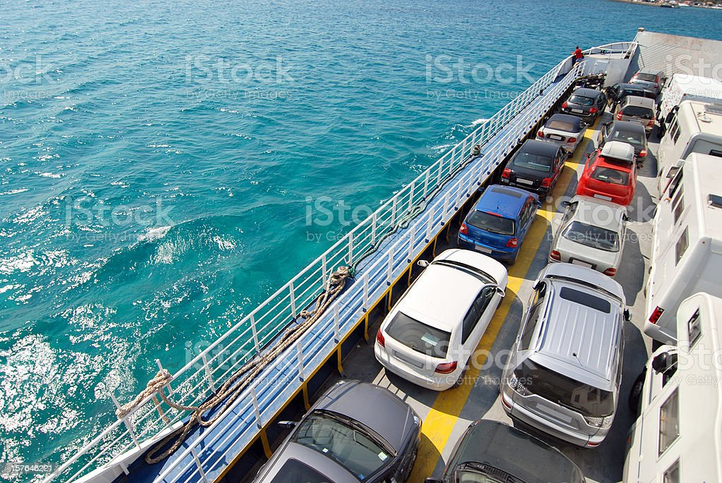 Ferry to Elafonisos island, Greece royalty-free stock photo