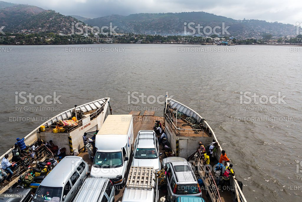 Ferry to Freetown stock photo