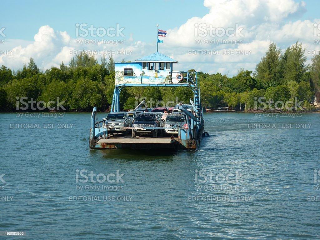 Ferry to Koh Lanta, Thailand stock photo