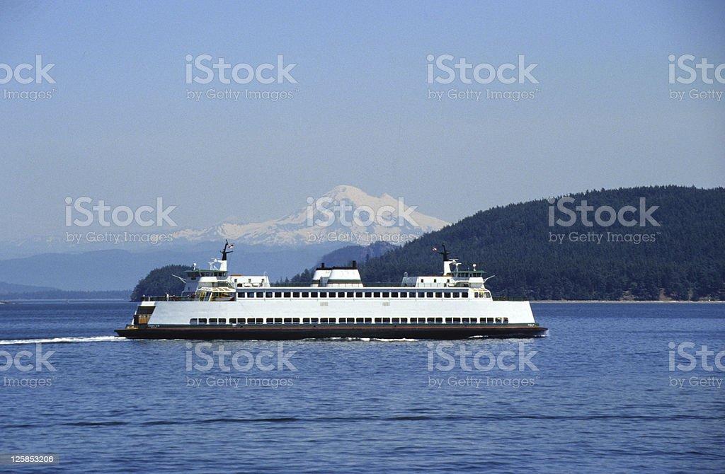 Ferry to San juan Islands stock photo