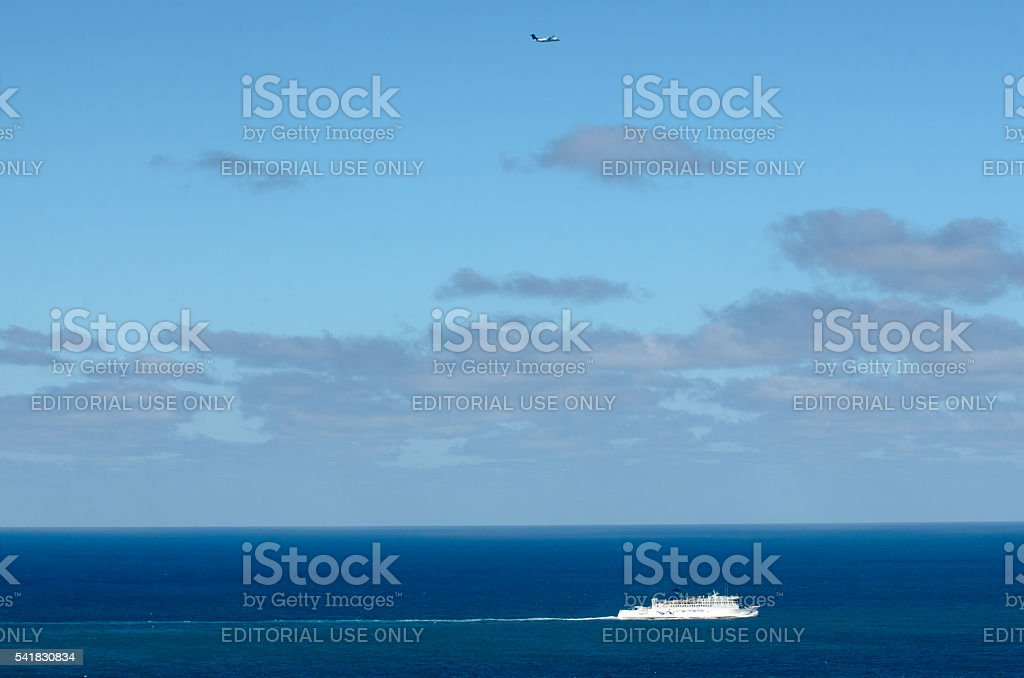 Ferry to Wellington stock photo