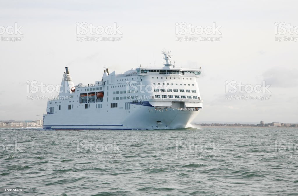 Ferry Travel at Sea royalty-free stock photo