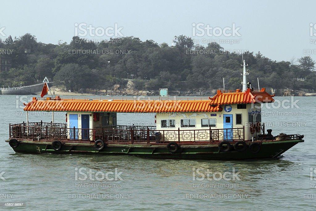 Traghetto alla Lun del Dock, Xiamen foto stock royalty-free
