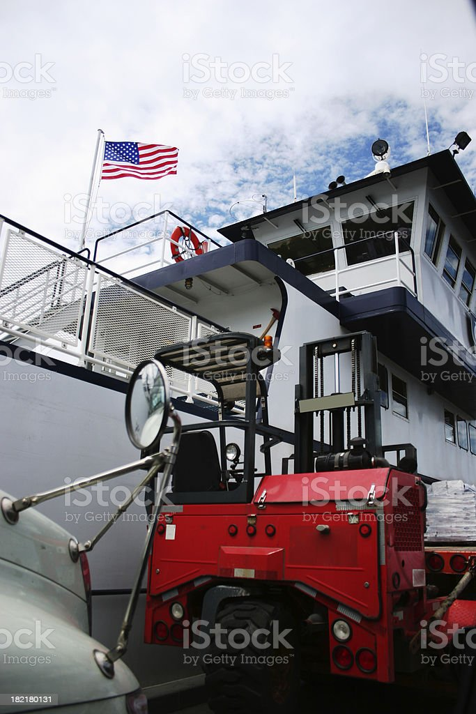 Ferryboat royalty-free stock photo