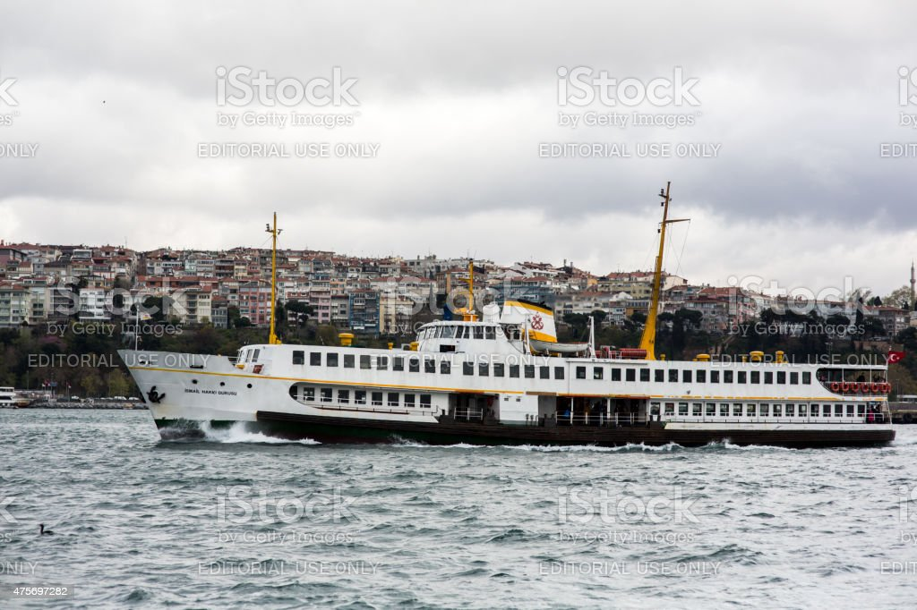 Ferryboat seiling to the Adalar Island stock photo