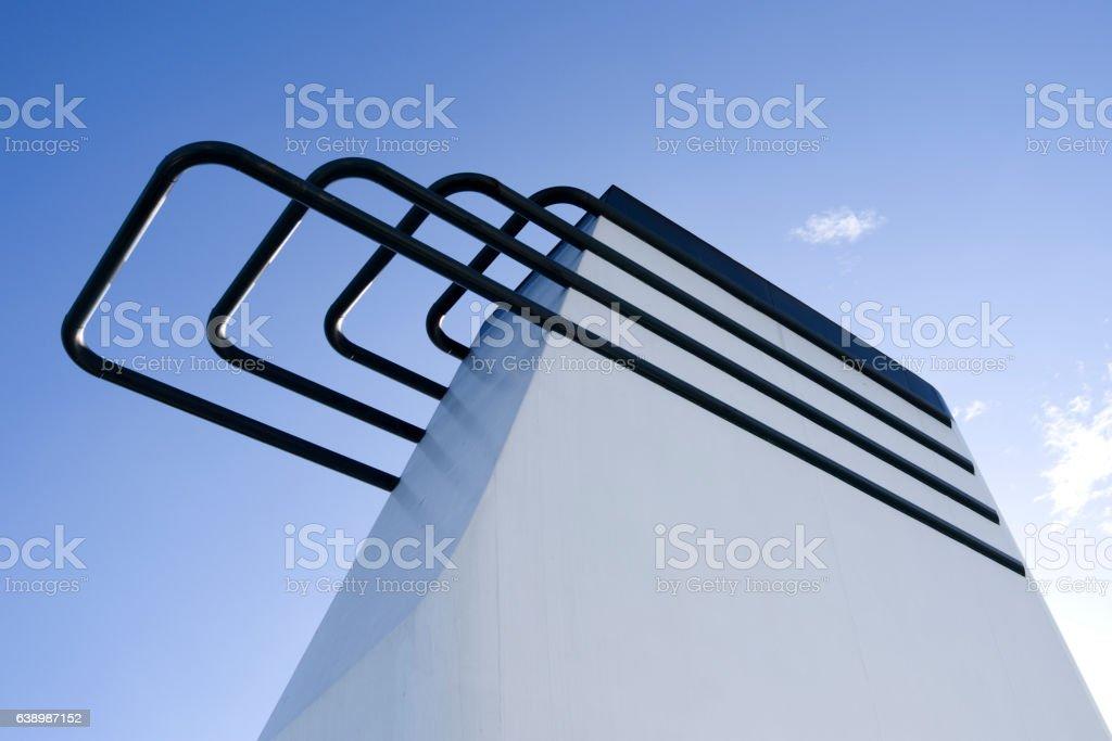 Ferryboat: White funnel stock photo