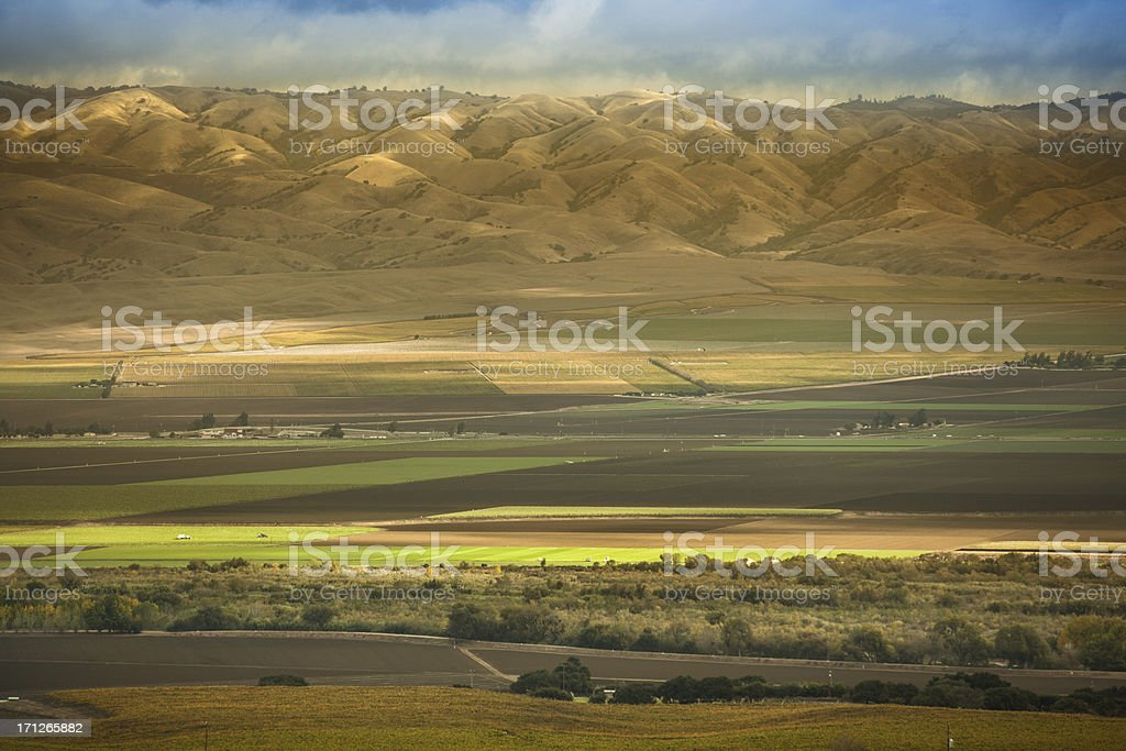 Fertile farm land in the Salinas Valley California USA stock photo