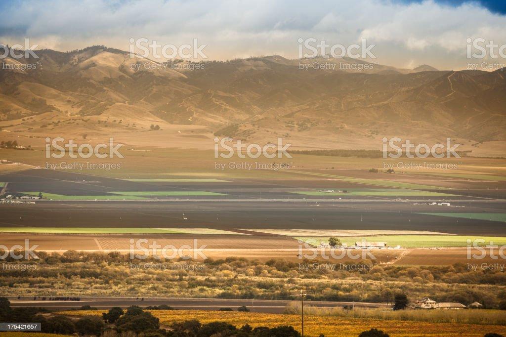 Fertile farm land in the Salinas Valley California USA stock photo