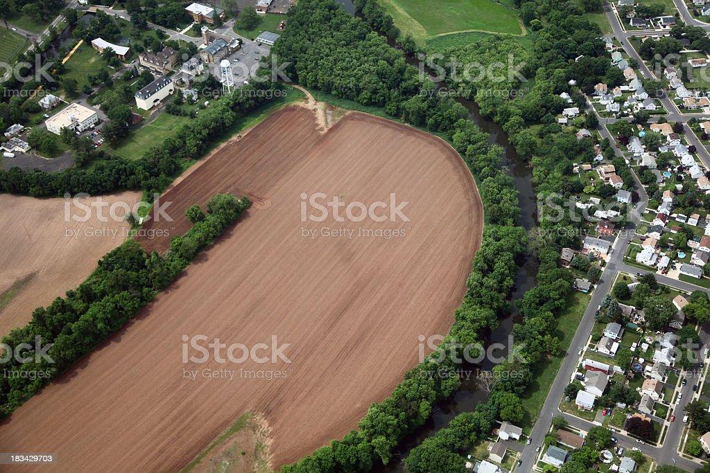 Fertile Farmland Aerial royalty-free stock photo