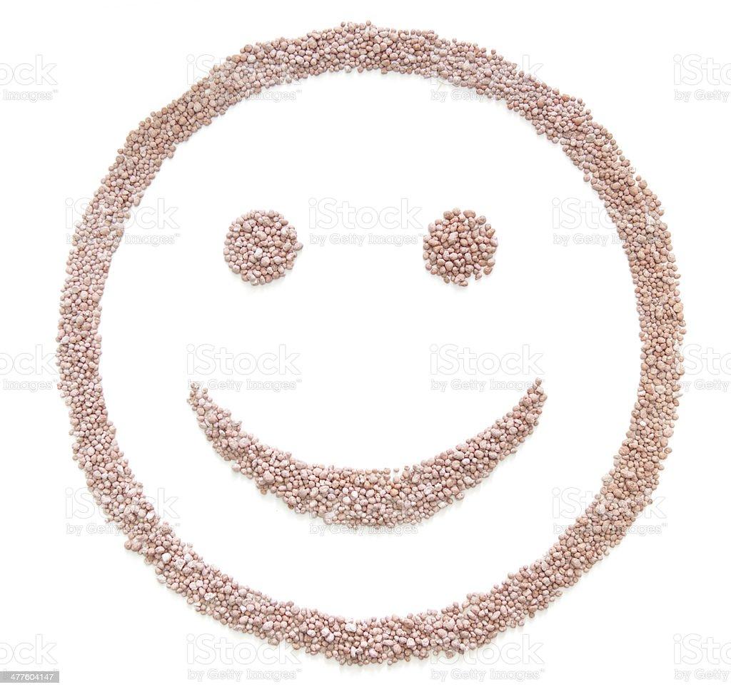 fertilizerseed in smile shape stock photo